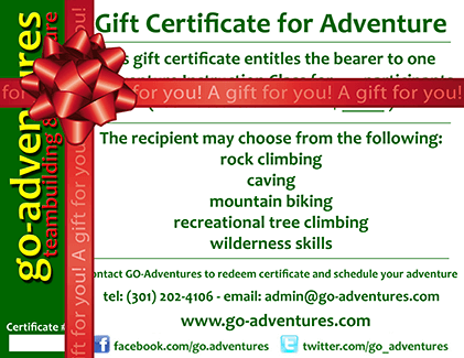 Adventure Gift Certificates by GO-Adventures - www.go-adventures.com - Experience Gifts for Everyone!