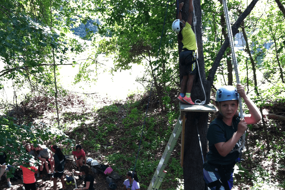 The Randallstown Ropes Course provides teambuilding and adventure for youth and adults in the Baltimore metro area.