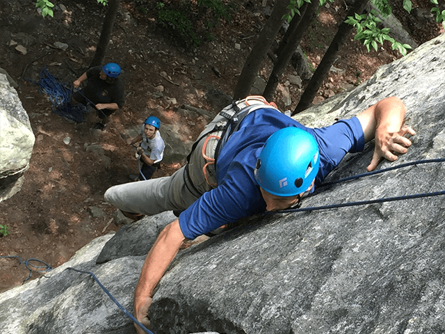 Top-rope Rock Climbing for beginner youth and adults in the MD/DC/VA metropolitan area.